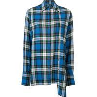 Rokh Camisa Oversized Xadrez - Azul
