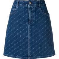 Stella Mccartney Saia Jeans Com Logo - Azul