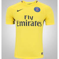 Camisa Psg Ii 17/18 Nike - Masculina - Amarelo/Azul Escuro