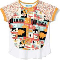 Blusa Lilica Ripilica Infantil - 10111612I Branco