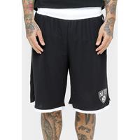 Bermuda New Era Nba Black White Brooklyn Nets - Masculino