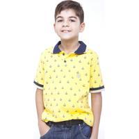 Camisa Polo Zuzinha Gola Amarelo