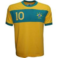 Camisa Liga Retrô Brasil Faixa Masculina - Masculino