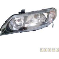 Farol - Depo - Civic 2007 Até 2011 - Lampada Hb3/Hb4 - Lado Do Motorista - Cada (Unidade) - 58827