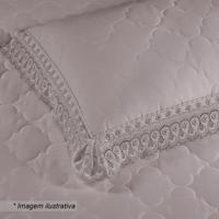 Porta Travesseiro Cristal Renascença- Bege Escuro- 7Buettner