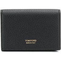 Tom Ford Logo Embossed Wallet - Preto