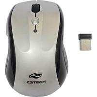 Mouse Sem Fio C3Tech Com Receptor Nano M-W012 Sl Prata