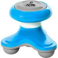 Mini Massageador Corporal Acte T150-Az 3 Pontos De Contato Azul