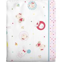 Cobertor Incomfral Coelinha Para Bebê 70 X 90Cm Branco E Rosa
