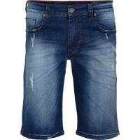 Bermuda Jeans Armani Exchange Masculina Destroyed Medium Wash - 25368