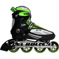 Patins Bel Fix Rollers In Line Bxtreme 5000 - Unissex-Preto+Verde
