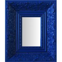 Espelho Moldura Rococó Fundo 16219 Azul Art Shop
