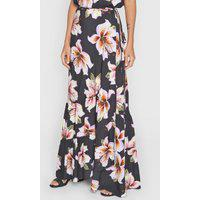 Saia Dress To Longa Floral Preto/Amarelo