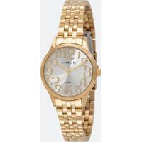 Kit Relógio Feminino Lince Lrgh071L Ku38S2Kx Analógico + Conjunto Semijóia