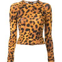 The Upside Blusa Com Estampa Leopardo - Marrom