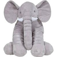 Pelúcia Gigante - 60 Cm - Elefante Cinza - Buba
