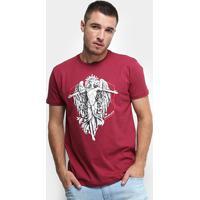 Camiseta Rukes Liberty Angel Masculina - Masculino-Vinho