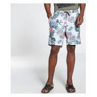 Shorts Docthos Moletom Estampa Flores Concept Shorts Docthos Moletom Estampa Flores Concept 005 Bege M