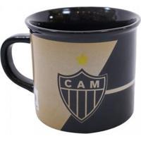 Caneca De Porcelana 400Ml Atlético Mineiro - Unissex-Preto
