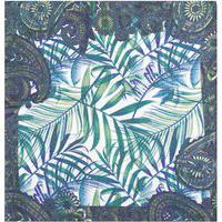 Lenço De Bolso Folhas - Branco E Verde