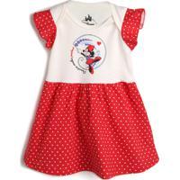Vestido Marlan Baby Minnie Off-White/Vermelho