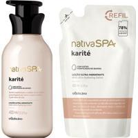 Combo Nativa Spa Karité: Loção Hidratante Corporal + Refil Loção Hidratante Corporal