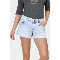 Shorts Jeans Hawaii Com Bordado Jeans - Lez A Lez
