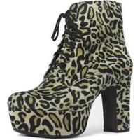 Bota Cano Curto Damannu Shoes Debbie Feminina - Feminino-Marrom