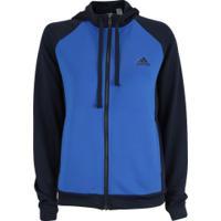 Agasalho Com Capuz Adidas Wts - Feminino - Azul Esc/Azul