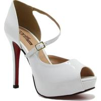 Sapato Zariff Shoes Peep Toe Noiva - Feminino
