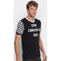 Camiseta Cavalera Race Quadriculada Masculina - Masculino-Preto