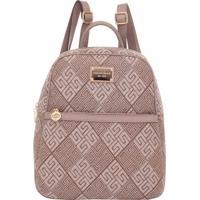 Mochila Smartbag Jacquard Fendi/Argila - 88015.16