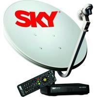 Kit Sky Conforto Hd, Antena De 60 Cm + Receptor Digital