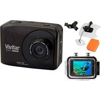 Câmera Filmadora De Ação Full Hd Dvr786 Vivitar + Kit P/ Surf