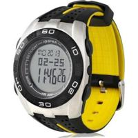 Relógio Spovan Digital Barômetro Amarelo