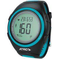 Monitor Cardíaco + Cinta Citius Com Contador De Calorias Cronômetro Alarme Preto/Azul Atrio - Es050 Es050