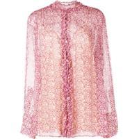 Stella Mccartney Camisa Com Acabamento De Babados - Roxo
