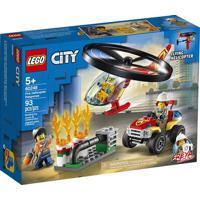 Lego City - Combate Ao Fogo Com Helicóptero - Lego 60248 Lego 60248
