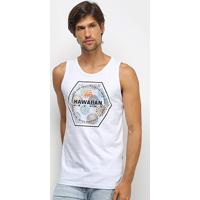 Regata Hd Circle Beam Masculina - Masculino-Branco