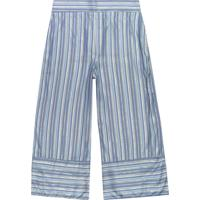 Calça Azul Pantacourt Listrada