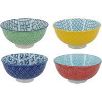 Jogo De Bowls- Verde & Azul- 4Pã§Sbtc Decor
