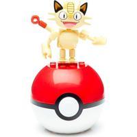 Bloco De Montar - Mega Construx - Pokémon - Pokebola - Meowth - Mattel - Unissex-Incolor