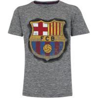 229514fa81d28 Camiseta Barcelona Dieguito - Infantil - Cinza Escuro