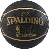 Bola De Basquete Spalding Nba Highlight - Preto