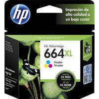 Cartucho Hp 664Xl F6V30Ab Ink Advantage Tricolor Para 1115 2136 3636 3836 4536