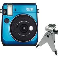 Câmera Instantânea Fujifilm Instax Mini 70 Azul + Tripé C/ Cabeça Móvel