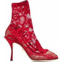 Dolce & Gabbana Bota De Renda - Vermelho