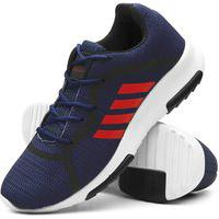 Tênis Masculino Caminhada Confortável Super Leve Azul