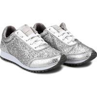 Tênis Diversão Jogging Minnie Glitter Tal Mãe - Feminino-Prata