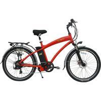 Bicicleta Elétrica Biobike, Quadro Em Alumínio, Modelo Classic - Vermelha